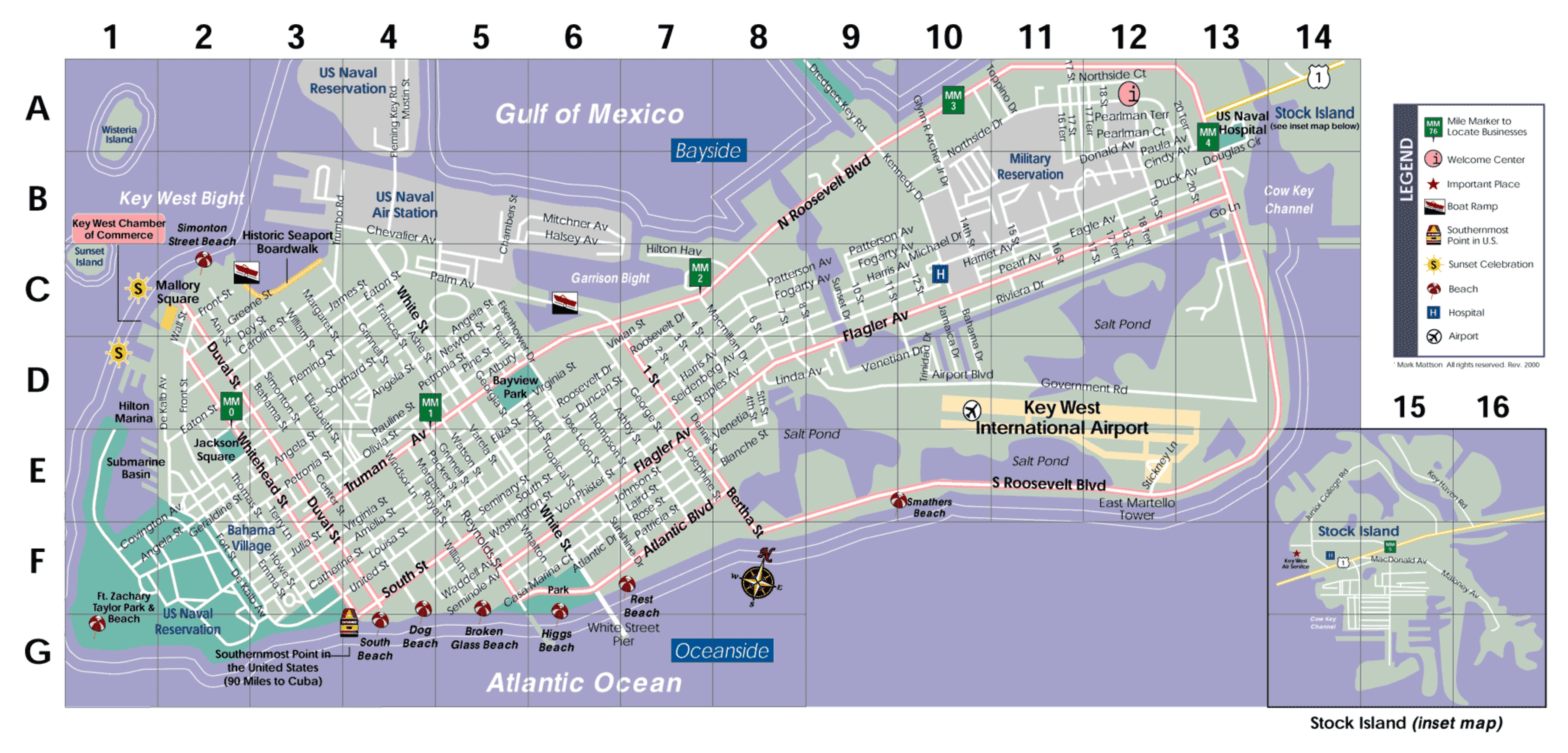 Key West Touring In An Electric Car A Visitors Point Of View - Florida map key west